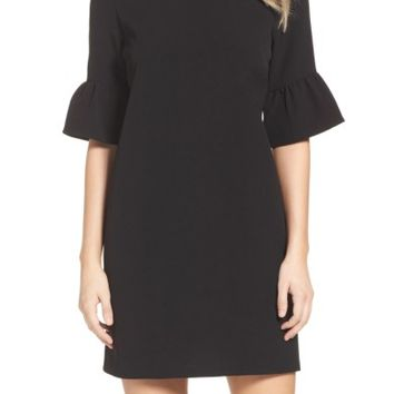 Charles Henry Bell Sleeve Shift Dress | Nordstrom