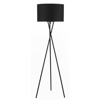 Euro Style Collection Faro 63 inch High Tripod Floor Lamp with Metal Legs Fabric Shade