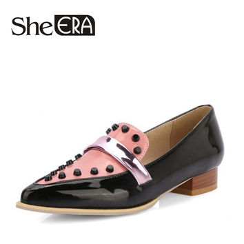 2017 Pumps Women Ballet for Casual Shoes zapatos de mujer Rivet Loeafers Shoes Woman 3cm Low Heel Shoes chaussure femme