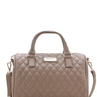 Khaki Quilted Bucket Bag