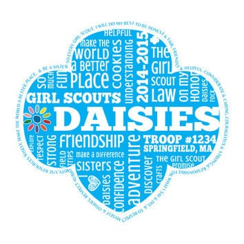 Personalized Daisy Girl Scouts Word Art