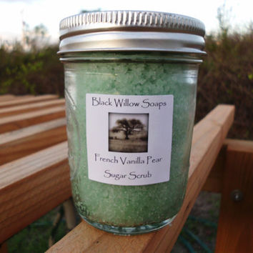 Sugar Scrub French Vanilla Pear scented with by BlackWillowSoaps