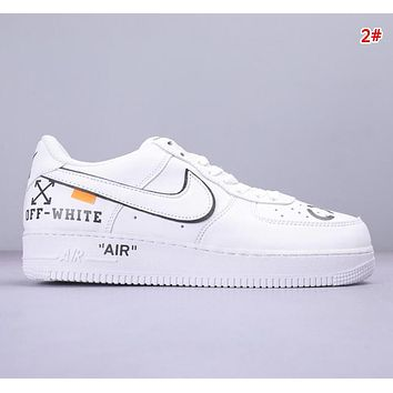 NIKE Air Force 1 Low & Off White Fashion New Embroidery Floral Butterfly Women Men Running Shoes 2#