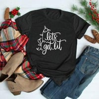 Lets Get Lit Christmas Shirt Funny Shirts unisex graphic pretty cotton holiday party street style casual t-shirt tumblr tees top