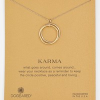 Women's Dogeared 'Karma' Boxed Mixed Metal Charm Necklace