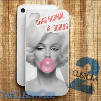Marilyn Monroe With Pink Bubble Gun - iPhone 4/4S, 5/5S, 5C Case and Samsung Galaxy S3, S4 Case.