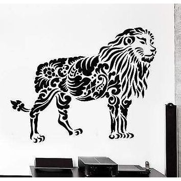 Wall Decal Lion Africa Animal Ornament Tribal Mural Vinyl Decal Unique Gift (z3198)