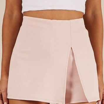 Mellow Out skort in blush Produced By SHOWPO