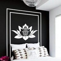 Yoga Fatima Hand Wall Decal Vinyl Sticker Wall Decor Home Interior Design Art Mural KV19