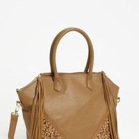 Steve Madden Studded Faux Leather Satchel, Large | Nordstrom