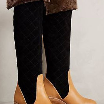 NWOB Anthropologie $398 Schuler & Sons Penny Quilted Boots Sz 6