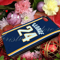 Adidas NBA Indiana Pacers 24 Paul George Jersey - for iPhone 4/4s, iPhone 5/5s/5c, Samsung S3 i9300, Samsung S4 i9500 Hard Case