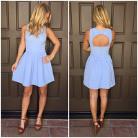 Double Bow It Babydoll Dress - Periwinkle Blue