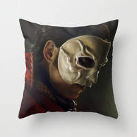 The Phantom of the Opera Throw Pillow by Annike