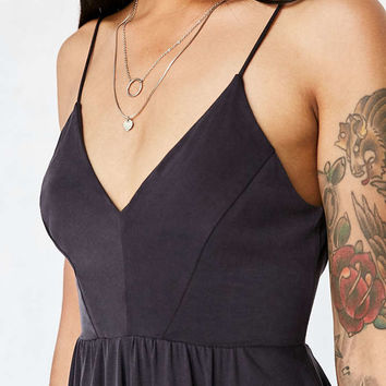 Silence + Noise Vanessa Cupro Playsuit - Urban Outfitters