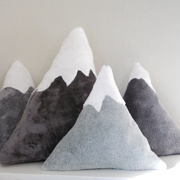 Snowy Mountain Pillows - baby nursery decor or fun accent pillows