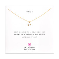 Dogeared | Gold Wish Wishbone Necklace
