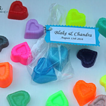 wedding soap favors, heart soap favors, wedding heart favors, bridal shower favors, heart soap, any color, 10 pack, wedding favors with tags