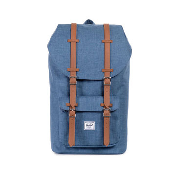 Herschel Supply Co. Little America Backpack Navy Crosshatch/Tan