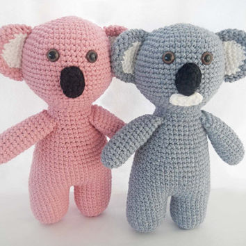 Stuffed Animal Plush Koala Bear Crochet Toys Amigurumi - TWO Custom Toys