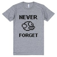 Never Forget (Flappy Bird)-Unisex Athletic Grey T-Shirt