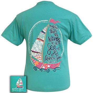 Girlie Girl Originals Preppy Psalm 93:4 Boat Sea Faith T-Shirt