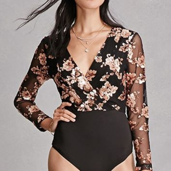 Girl In Mind Sequin Bodysuit