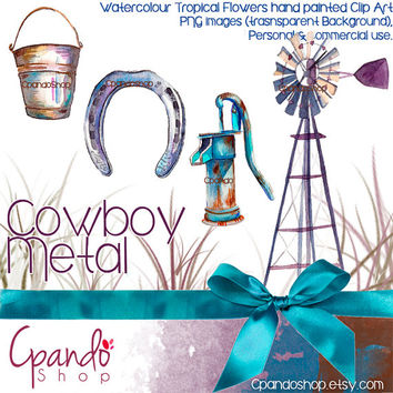 Cowboy Wester Metal Clip Art (PNG Images with transparent background HQ)