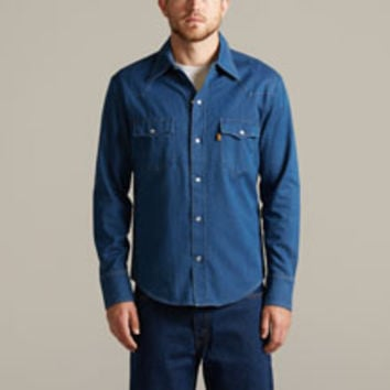 Levi's 1970s Blue Shirt - Clear - Men's