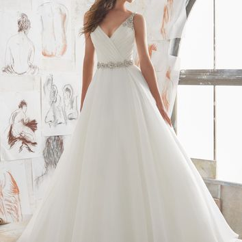 Blu by Morilee Marlowe 5507 Organza Ball Gown Wedding Dress