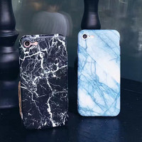 2017 New Marble iPhone 7 7Plus & iPhone se 5s 6 6 Plus Case Best Protection Cover +Gift Box-129