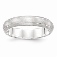 Sterling Silver 5mm Satin Finish Wedding Band Ring: RingSize: 12