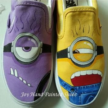 minion vans minions shoes hand painted shoes custom canvas shoes