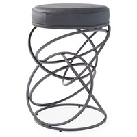 Ring Barstool, Black, Bar & Counter Stools