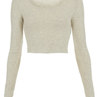 Long Sleeve Crop Tee - Long Sleeves - Jersey Tops - Clothing - Topshop