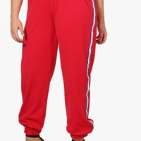 Plus Katy Side Stripe Jog Pant | Boohoo