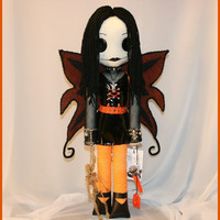 OOAK Hand Stitched Art Doll Creepy Gothic Fairy by TatteredRags