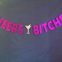 Cheer Bitches Banner/ Bachelorette Party/ Bridal Shower/ Girl's Night/ Birthday Party Banner/Party Decoration