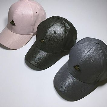 triangle Beak Cap Cartoon Iron Curled Eaves Hat Along The Female Flashing Spring And Autumn Street Performance Baseball Cap 130