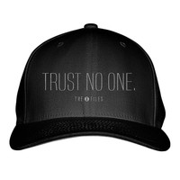 Trust No One The X Files Embroidered Baseball Cap