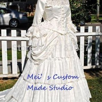 Custom Made 18th century Victorian Bustle Christine's Period Gown from Phantom of the Opera Theater Costume/
