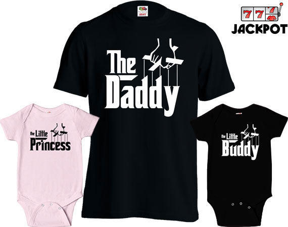 Matching Father Son Shirts The Daddy T Shirt Son Daughter Princess Baby Bodysuit Matching Family Shirts First Fathers Day Toddler Tee Md 431