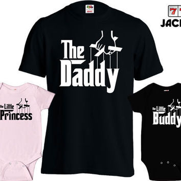 Matching Father Son Shirts The Daddy T Shirt Son Daughter Princess Baby Bodysuit Matching Family Shirts First Fathers Day Toddler Tee MD-431