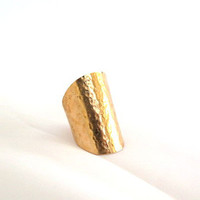Hammered thumb ring, long tribal ring, modern bronze jewelry, gift under 30 - Edit Listing - Etsy