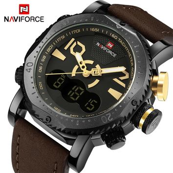 NAVIFORCE NF9094BY Sport Military Men's Quartz Analog Digital Watch