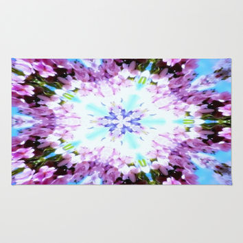 Purple Flower Series Area & Throw Rug by 2sweet4words Designs