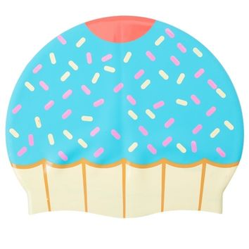 Sporti Cupcake Silicone Swim Cap at SwimOutlet.com