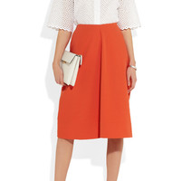 Jil Sander | Nebbia stretch cotton-blend piqué midi skirt | NET-A-PORTER.COM