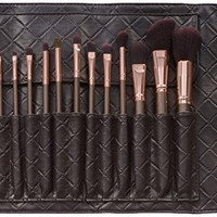BH Cosmetics 15 Piece Rose Gold Brush Set