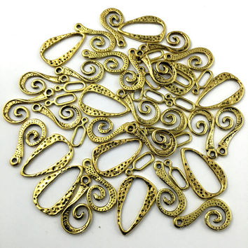 44 mixed charms gold tone # CH 610